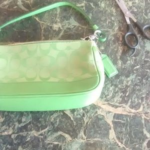 Coach Purse Green